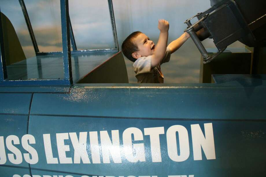 "The WWII vessel USS Lexington, known as 'The Blue Ghost,"" can keep kids busy playing and exploring for hours. Photo: By Jennifer Roolf Laster"