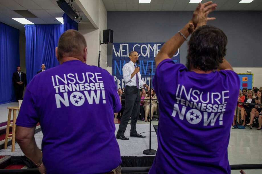 President Barack Obama discusses The Affordable Care Act at Taylor Stratton Elementary School the Madison neighborhood of Nashville, Tenn., July 1, 2015. Companies say new customers under the Affordable Care Act have been sicker than expected, while federal officials say they want the proposed rate increases scaled back. (Zach Gibson/The New York Times) Photo: ZACH GIBSON, STF / NYTNS