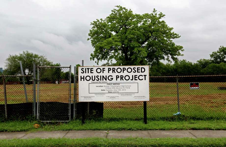 In November, Houston City Council approved a housing project in the Independence Heights neighborhood. The median income in the neighborhood is around $21,000 -- well below the $45,000 for Houston as a whole. The neighborhood lacks services such as a grocery store, library, medical clinic, or YMCA. Each unit here will cost $226,000. Photo: Gary Coronado, Houston Chronicle / © 2015 Houston Chronicle