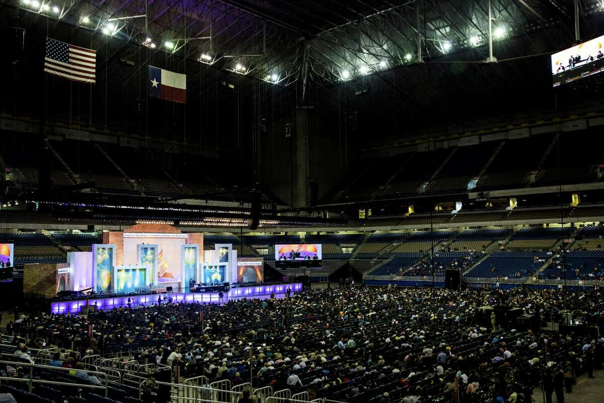 Delegates at the 60th General Conference Session of the Seventh-day Adventist Church meet in the Alomodome in San Antonio, Texas. Ray Whitehouse / San Antonio Express-News