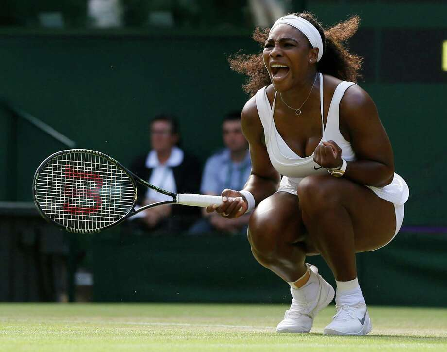 It took a lot out of top-seeded Serena Williams to post her 24th straight Grand Slam victory Friday, barely outlasting Heather Watson 6-2, 4-6, 7-5. Photo: Kirsty Wigglesworth, STF / AP