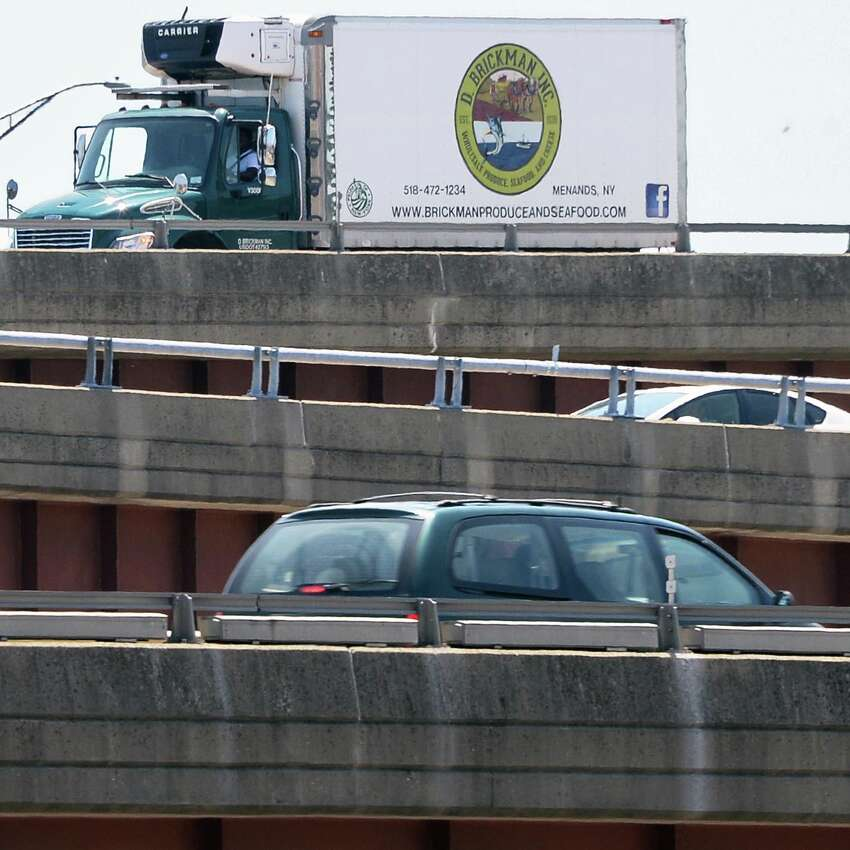 Traffic on I 787 ramps Friday July 3, 2015 in Albany, NY. (John Carl D'Annibale / Times Union)