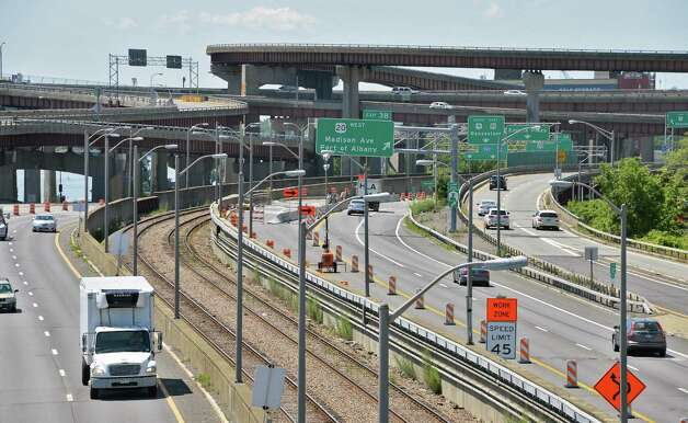 Interstate 787 as seen from the Riverfront Pedestrian Bridge Friday July 3, 2015 in Albany, NY.  (John Carl D'Annibale / Times Union) Photo: John Carl D'Annibale / 00032493A