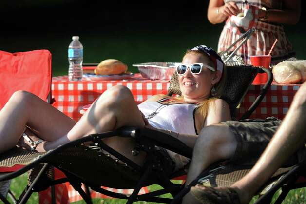 Sara Cummings of Saratoga Springs tailgates with friends before the Dave Matthews Band show on Friday, July 3, 2015, at Saratoga Performing Arts Center in Saratoga Springs, N.Y. (Cindy Schultz / Times Union) Photo: Cindy Schultz / 00032321A