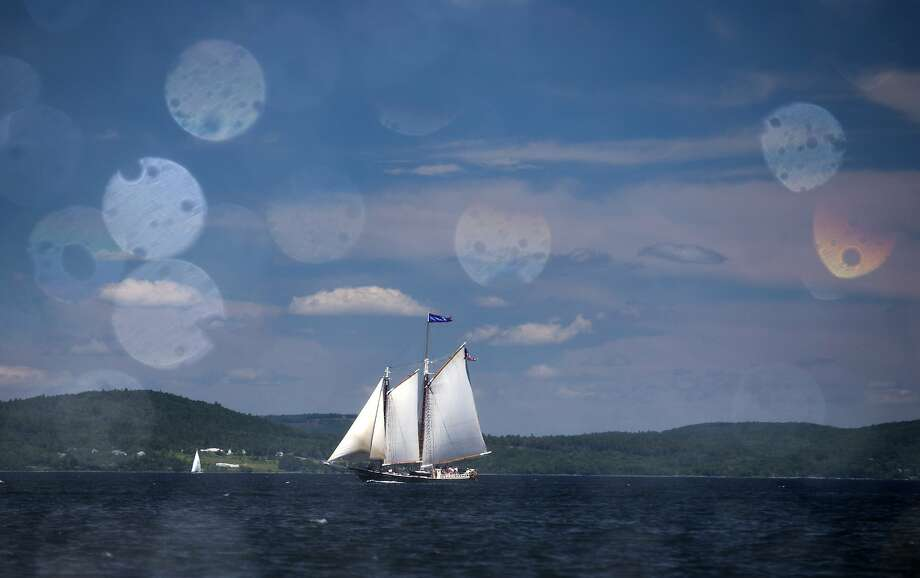 The Stephen Taber competes in the 39th Annual Great Schooner race, Friday, July 3, 2015, on Penobscot Bay off the coast of Rockland, Maine. The history of racing coasting schooners started over a century ago with sailors trying to beat their competitors to market, according to the Maine Windjammmer's Association. The first boat back to port always got the best price for their cargo, whether it be fish, granite or Christmas trees. Photo: Robert F. Bukaty, Associated Press