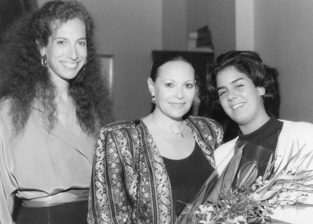 In 1988 Festival founder Deborah Kaufman (left) with Israeli actress Gila Almagor and her daughter Hagar Almagor Photo by Richard Bermack