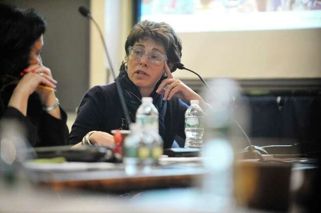 Merryl Tisch, Regents Chancellor, addresses those gathered for a Board of Regents meeting at the State Education building on Tuesday, May 19, 2015, in Albany, N.Y.  (Paul Buckowski / Times Union) Photo: PAUL BUCKOWSKI / 00031897A