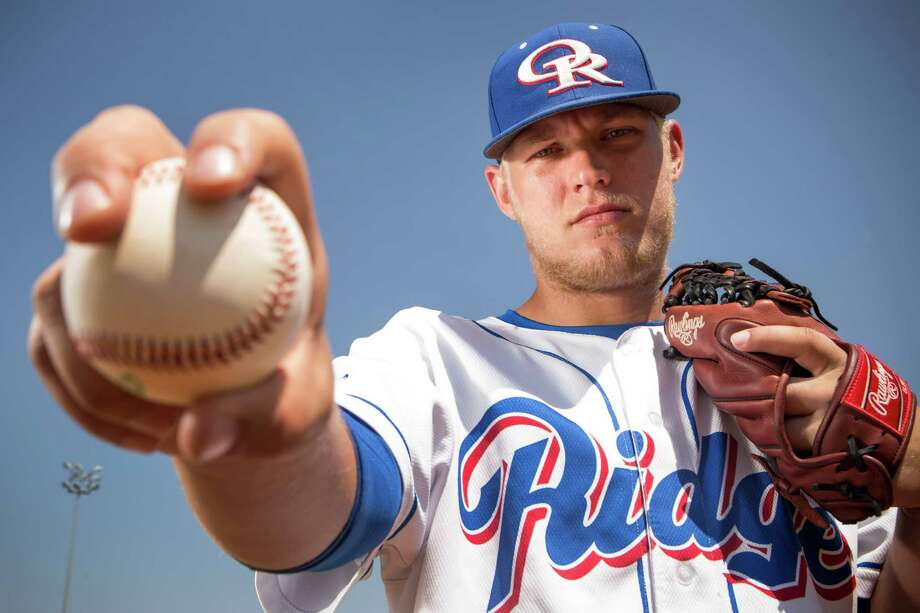 Oak Ridge senior Luken Baker came to grips with his future plans, letting MLB teams know he intends to attend TCU. Photo: Brett Coomer, Staff / © 2015 Houston Chronicle