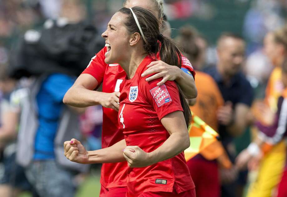 England's Fara Williams converted a penalty kick in the 108th minute to lift England to a 1-0 victory over Germany in the Women's World Cup third-place match Saturday.  Photo: Jason Franson, Associated Press