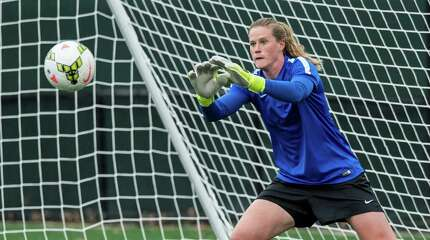 Seymour's Alyssa Naeher tracks a shot for the Boston Breakers of the National Women's Soccer League earlier this year. Naeher is a goalkeeper for Team USA, which will face Japan on Sunday, July 5, 2015, for the FIFA Women's World Cup championship.