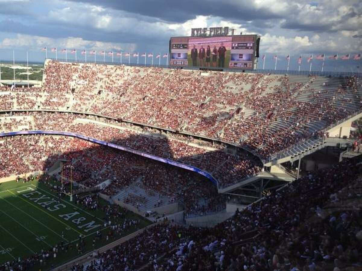 The south end zone at Texas A&M's Kyle Field in College Station.