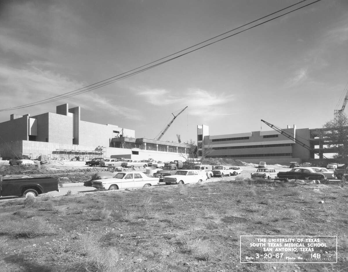 Construction of the South Texas Medical School in San Antonio was well under way in March 1967. The school began holding classes at its new facilities in September 1968.