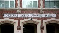 "Stonewall Jackson Junior High School, 5100 Polk St., Friday, July 3, 2015, in Houston, Texas. Thomas Jonathan ""Stonewall"" Jackson was a Confederate general during the American Civil War."