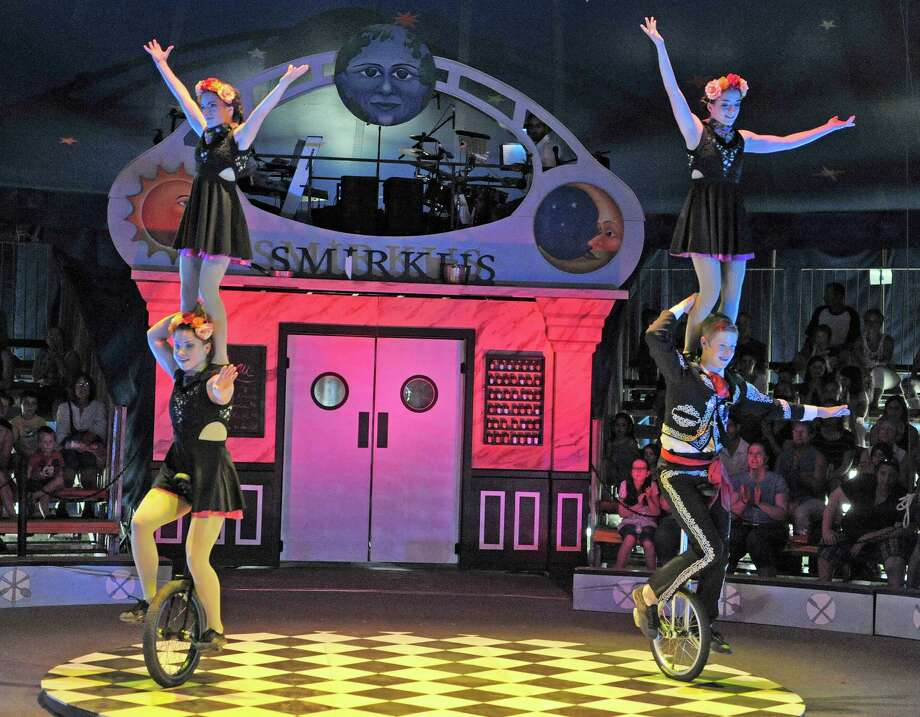 Circus Smirkus. This year's theme is Up, Hup and Away: The Invention of Flight. Featuring flocks of jugglers, clowns, and air-borne aerialists, all aged 11 - 18 years old. When: Friday, July 8 and Saturday, July 9, 1PM and 6 PM shows. Where: Saratoga Casino Hotel, 342 Jefferson St., Saratoga Springs. For tickets and more information, visit the website. Photo: PAUL BUCKOWSKI / 00032476A