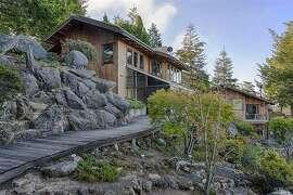 45351 Sequoia is set amongst giant boulders on a Mendocino hillside.