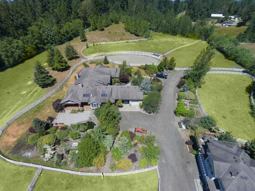 The home is built on one level and has views of Mount Si