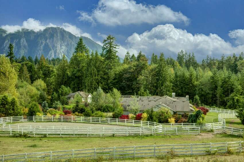 Crystal Creek Ranch in Snoqualmie is a horse lover's dream. The property, on more than 8 acres, has a barn, outdoor arena and fenced-in areas for horses. The property, at 5645 402nd Ave. S.E., is listed for $1.599 million. For the full listing, go here.