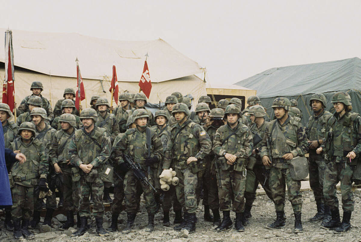 1996 By the 1990's, camo style uniforms had become the new standard in the U.S. military.