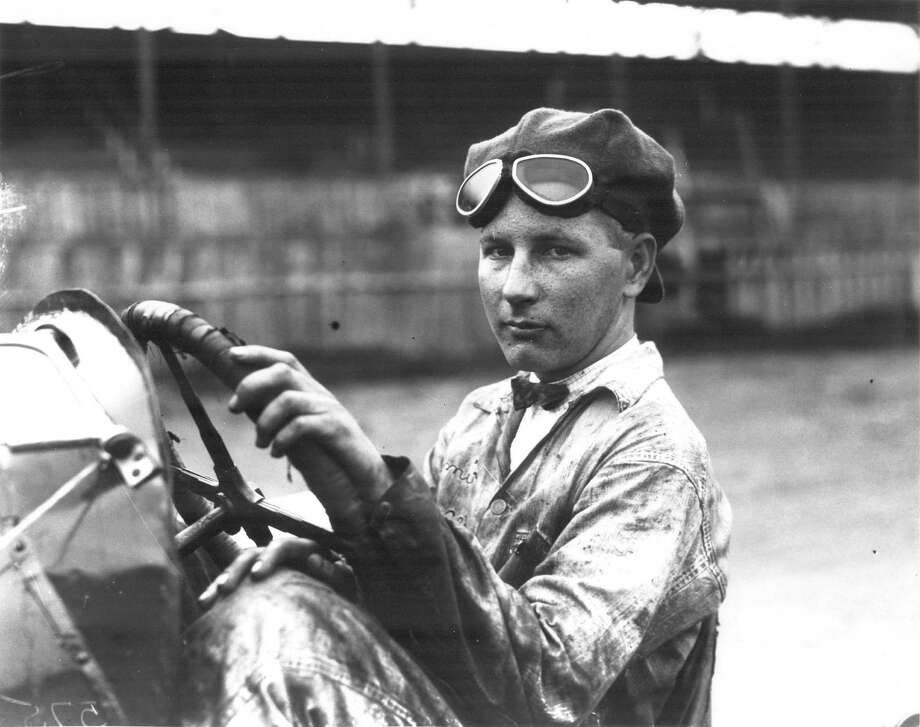 Quincey Alexander is seated in his J. and L. Special racing automobile at San Antonio Speedway. This photo was published in the Light on April 18, 1926. Photo: Courtesy UTSA Special Collections / San Antonio Light Collection