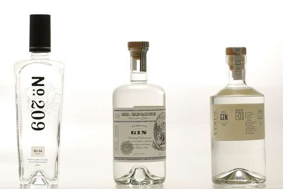 No. 209, St. George, and Venus gins are seen on Monday, July 6, 2015 in San Francisco, Calif.