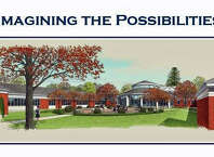 The architect's drawing of the new Greenwich Catholic facility.