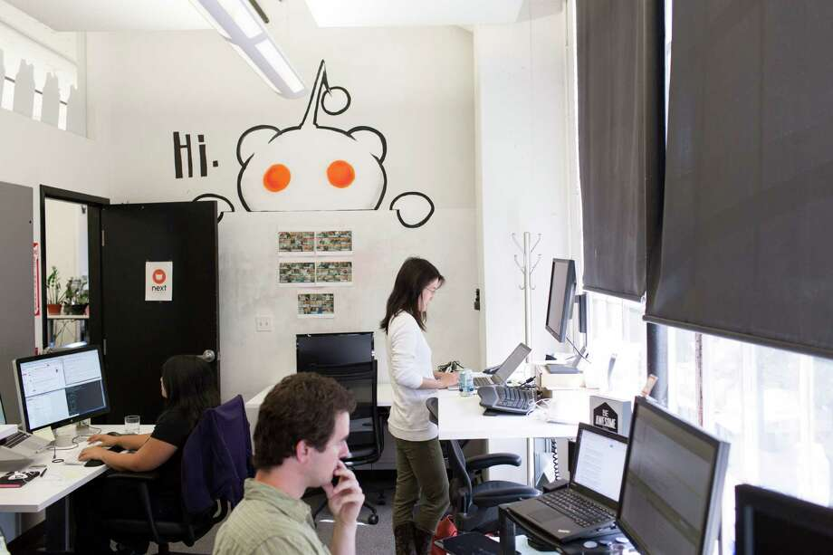 "FILE -- Ellen Pao, the interim chief executive of Reddit, in the company's office in San Francisco, July 16, 2014. Hundreds of sections of Reddit, the popular online message board, were unavailable on July 3, 2015, in what appeared to be a protest by many of the siteé¢â'â""¢s moderators after the abrupt dismissal of a high-ranking company employee. (Jason Henry/The New York Times) Photo: JASON HENRY, STR / NYTNS"