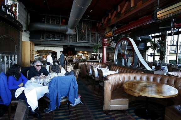 A view of a dining room at the Epic Roasthouse in San Francisco, Calif. Two popular San Francisco restaurants, Waterbar and Epic Roasthouse, sit next to each other on the Embarcadero.