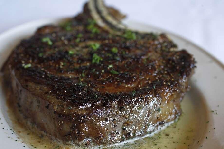 A 22 oz. bone-in prime ribeye at Pappas Bros. Steakhouse. Photo: Karen Warren, Houston Chronicle