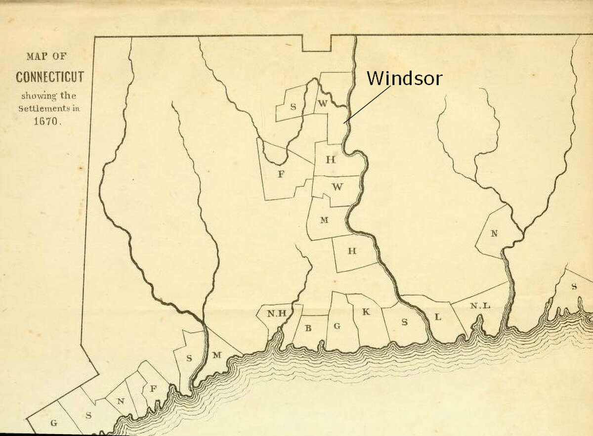 """Oldest English settlement: Windsor """"In 1633, Windsor became Connecticut's first English settlement. This was due to its desirable location at the juncture of the Farmington and Connecticut Rivers, its rich and fertile soil, and, perhaps most importantly, to a 17th-century war between Native peoples of the region made complicated by new European interests in the fur trade."""" - connecticuthistory.org"""