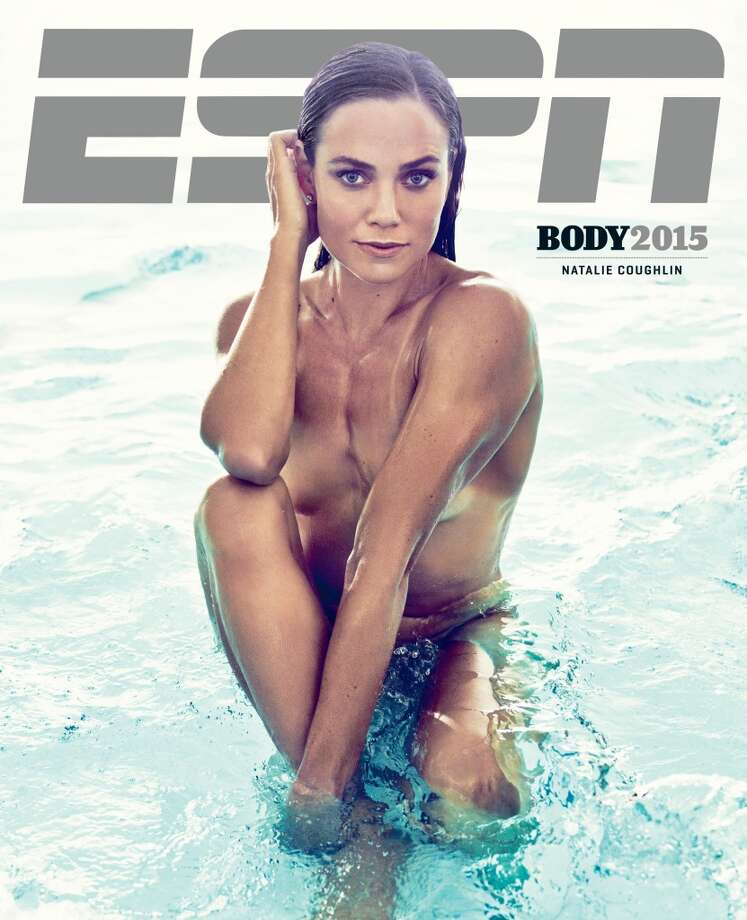 Olympic swimmer Natalie Coughlin poses on the cover of ESPN's 2015 Body Issue. Photo: Williams + Hirakawa For ESPN The Magazine