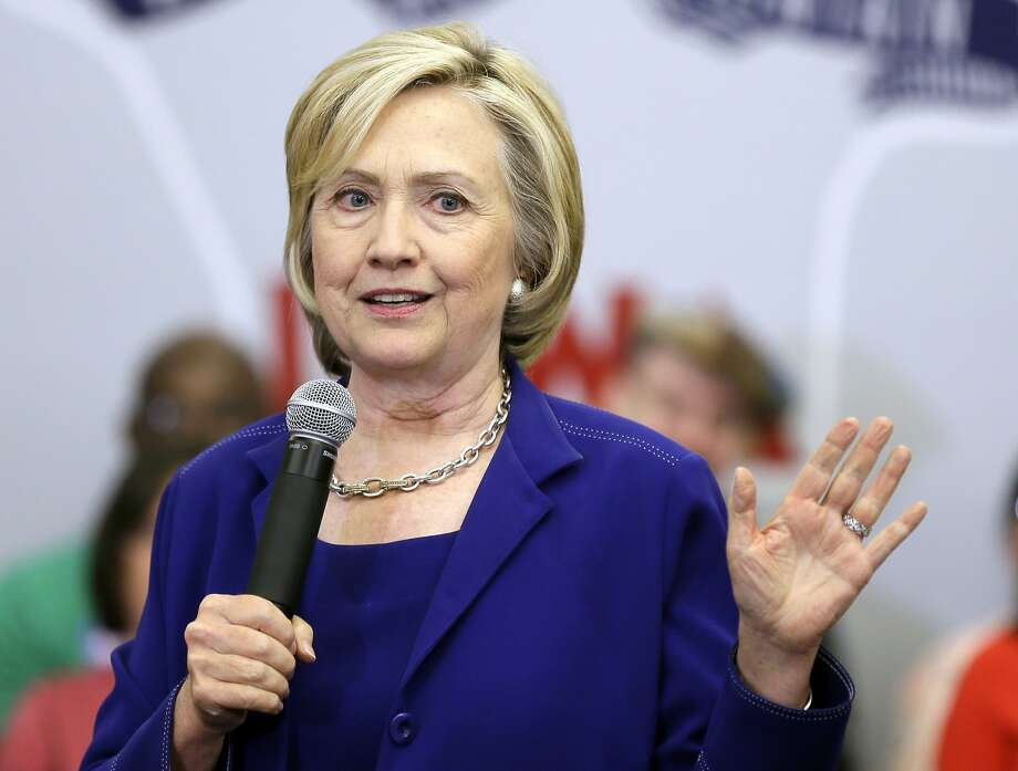 Presidential candidate Hillary Rodham Clinton says she intends to make a priority of countering the movement known as BDS — boycott, divestment and sanctions. Photo: Charlie Neibergall, Associated Press