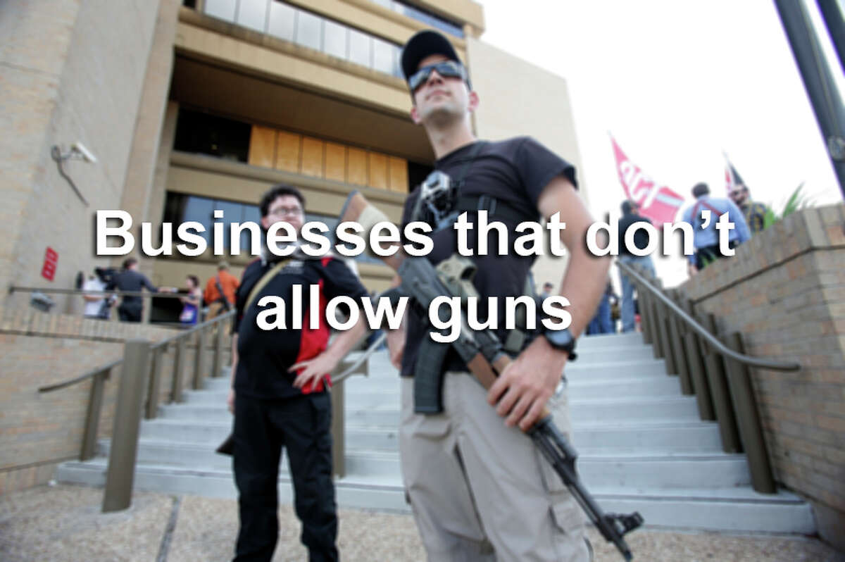 These companies have said that they do not want guns in their stores.