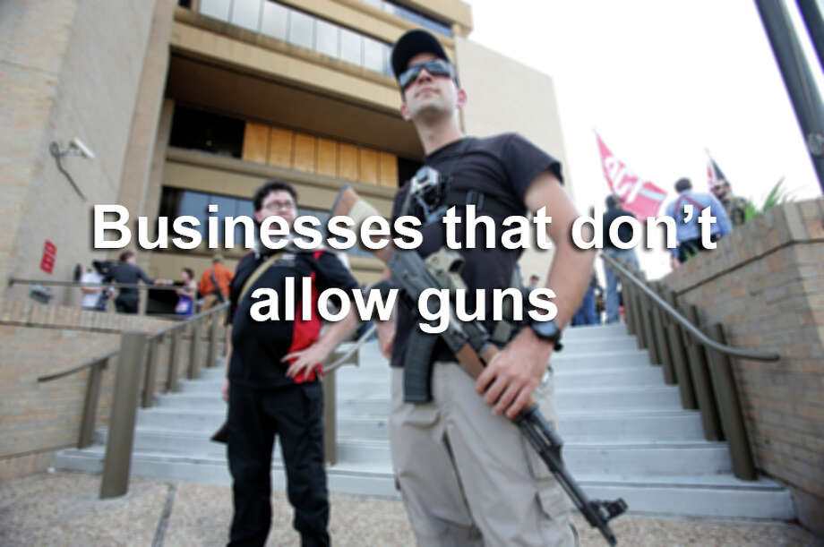 These companies have said that they do not want guns in their stores. Photo: Tom Reel, SAEN