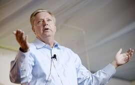 Declared 2016 Republican presidential candidate Lindsey Graham speaks at the Aspen Ideas Festival in Aspen, Colo., on Monday, June 29, 2015. The Aspen Ideas Festival is dedicated to Engaging Ideas that Matter through the annual festival conversations. (Olivier Douliery/Abaca Press/TNS)