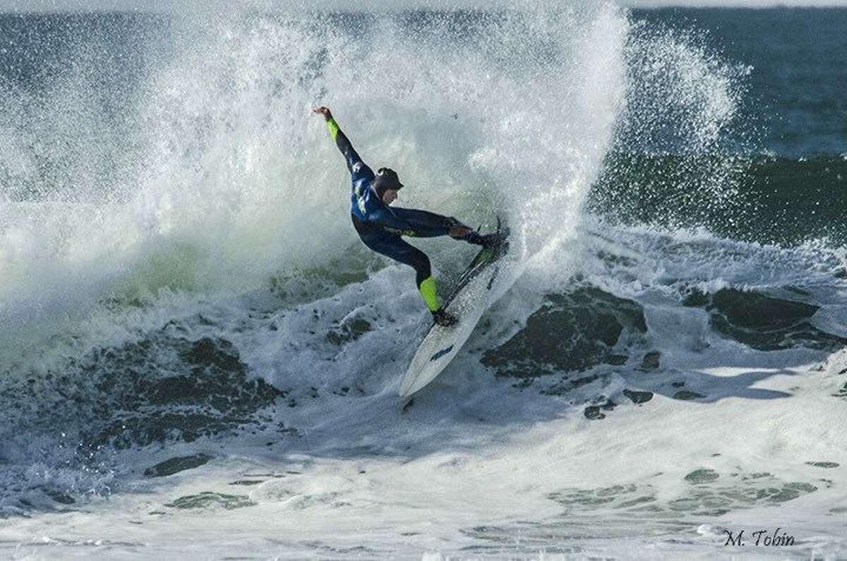 Surfing at San Francisco's Ocean Beach.