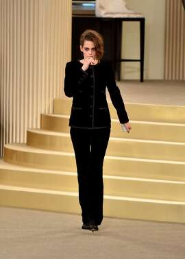 Kristen Stewart walks the runway during the Chanel show as part of Paris Fashion Week Haute Couture Fall/Winter 2015/2016 at the Grand Palais on July 7, 2015 in Paris, France. (Photo by Gareth Cattermole/Getty Images)