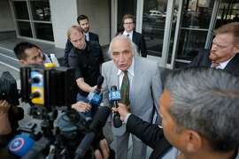 "J. Tony Serra, an attorney representing Raymond ""Shrimp Boy"" Chow, speaks to the media following a hearing on behalf of his client at the Phillip Burton Federal Building and United States Court House on Tuesday, July 7, 2015."
