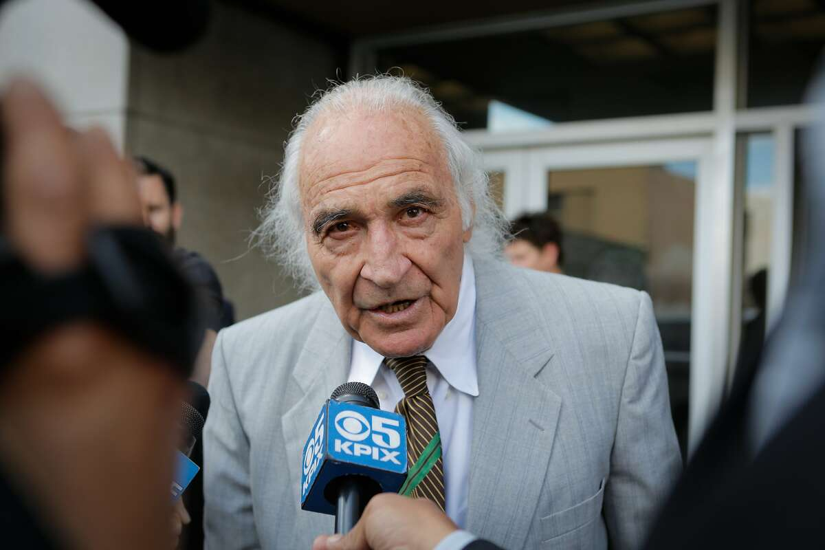 """J. Tony Serra, an attorney representing Raymond """"Shrimp Boy"""" Chow, speaks to the media following a hearing on behalf of his client at the Phillip Burton Federal Building and United States Court House on Tuesday, July 7, 2015."""