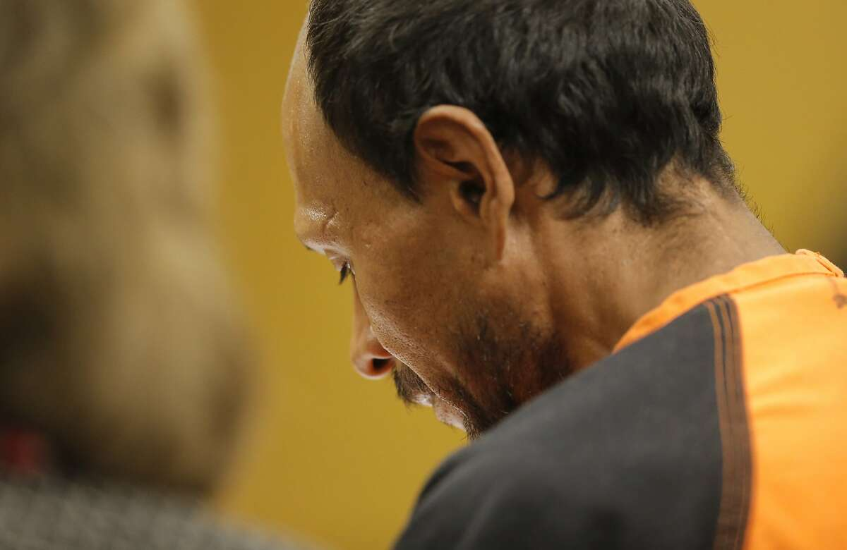 Juan Francisco Lopez-Sanchez, is seen at the Hall of Justice in San Francisco, Calif. on Tues. July 7, 2015, during his arraignment on suspicion of murder in the shooting death of Kate Steinle on San Francisco's Pier 14 last Wednesday.