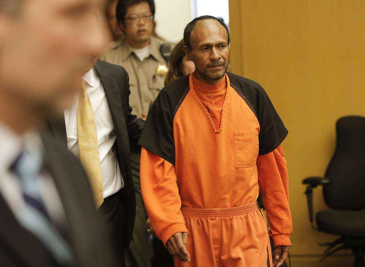 Juan Francisco Lopez-Sanchez, is seen at the Hall of Justice in San Francisco, Calif. on Tues. July 7, 2015, enters the courtroom for his arraignment on suspicion of murder in the shooting death of Kate Steinle on San Francisco?•s Pier 14 last Wednesday.
