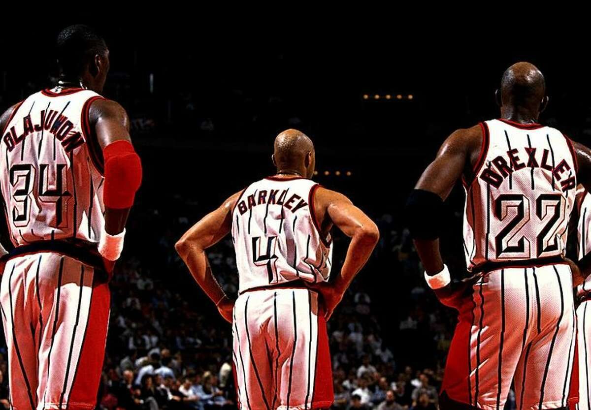 Hakeem Olajuwon, Charles Barkley and Clyde Drexler/Scottie Pippen looked good on paper, but the Rockets never made the Finals.