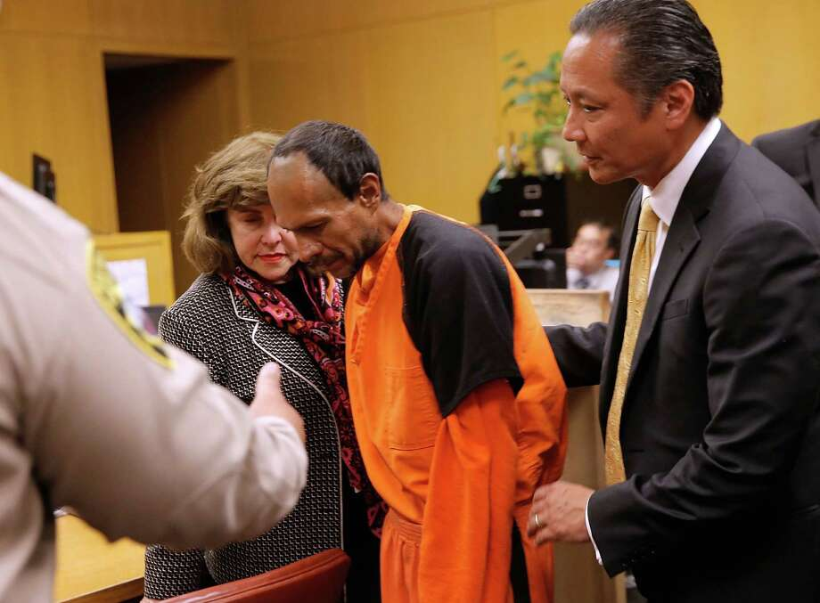 Francisco Sanchez enters court for an arraignment on July 7, 2015 in San Francisco, California. Francisco Sanchez plead not guilty to charges that he shot and killed 32 year-old Kathryn Steinle as she walked on Pier 14 in San Francisco with her father last week. Photo: Michael Macor / The Chronicle / 2015 Getty Images