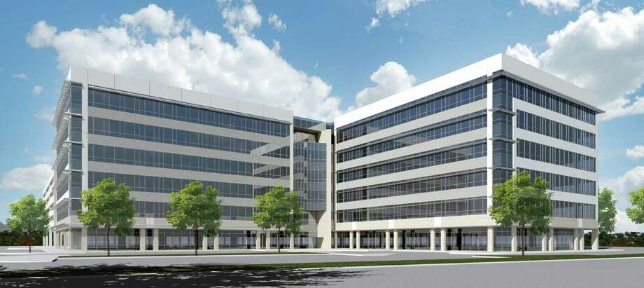 Rendering of a 240,000-square-foot office building at 10100 Katy Freeway at Gessner by MetroNational. CEMEX will be the anchor tenant in the six-floor building. Photo: MetroNational / ONLINE_YES