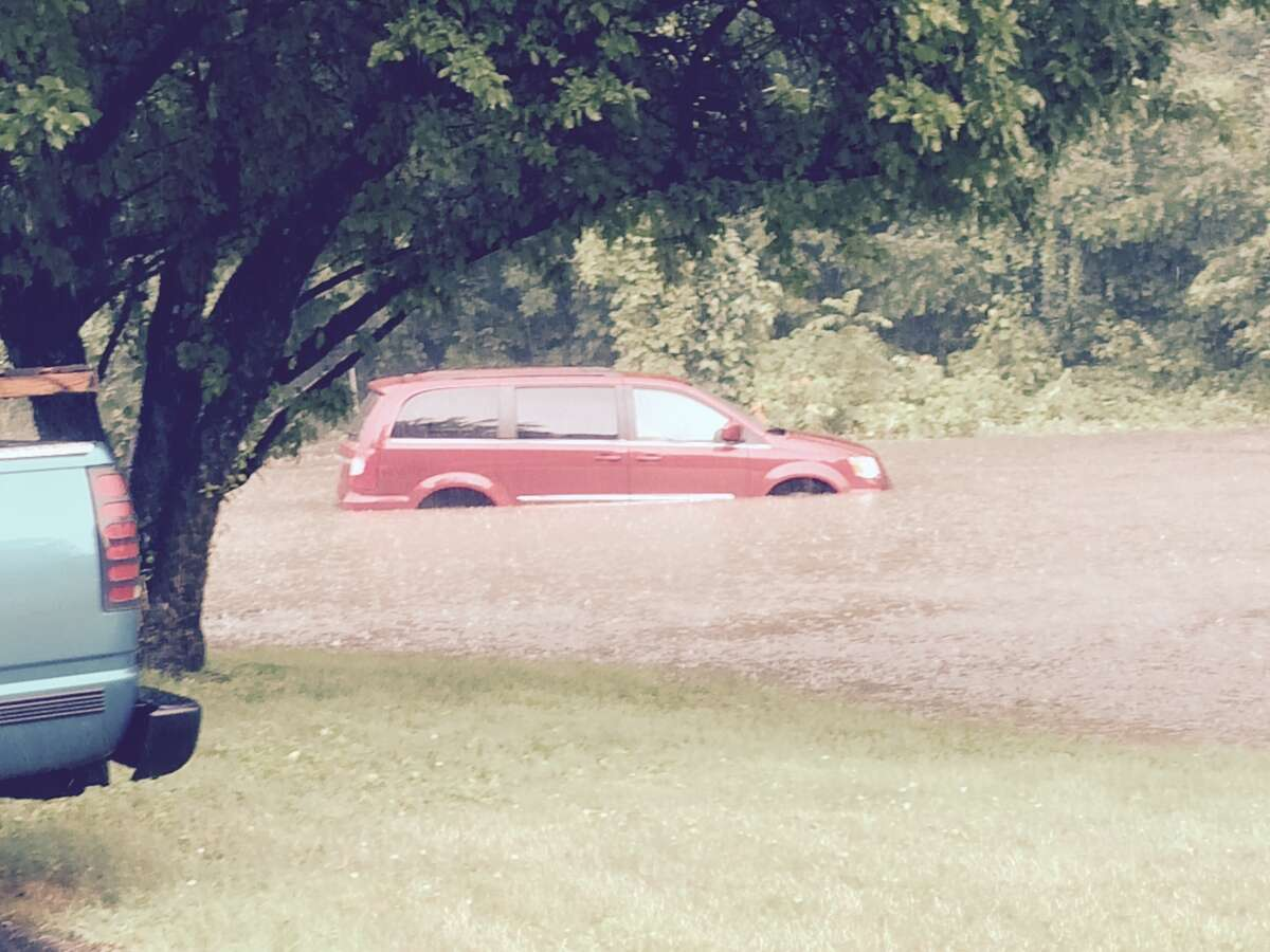 Danbury at around 4:00pm on Beaver Brook Rd. - right in front of Durkin Awnings. Photo courtesy Marc Huberman