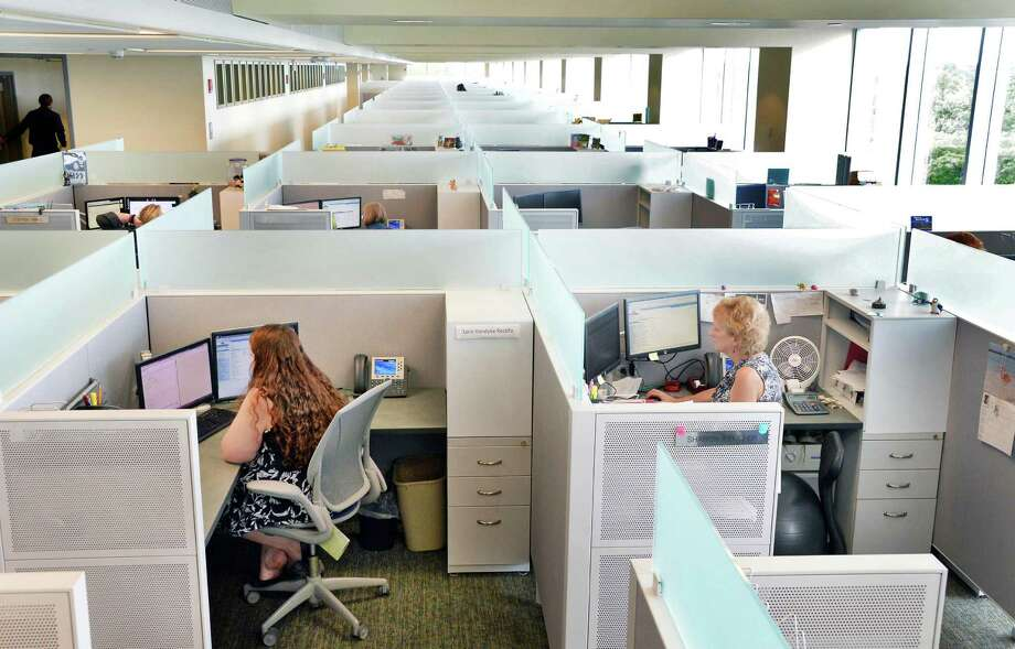 Unused since 2004, the newly renovated building 5,on the Harriman Campus is once again housing state offices Tuesday July 7, 2015 in Albany, NY.  (John Carl D'Annibale / Times Union) Photo: John Carl D'Annibale / 00032517A