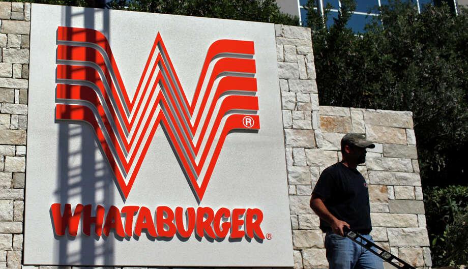 Rank: 25Company: WhataburgerHeadquarters: San Antonio2015 employees: 6,569Company-wide: 32,000Change 2014 to 2015: 20 percentSource: Houston Chronicle Survey Photo: LISA KRANTZ, SAN ANTONIO EXPRESS-NEWS / SAN ANTONIO EXPRESS-NEWS