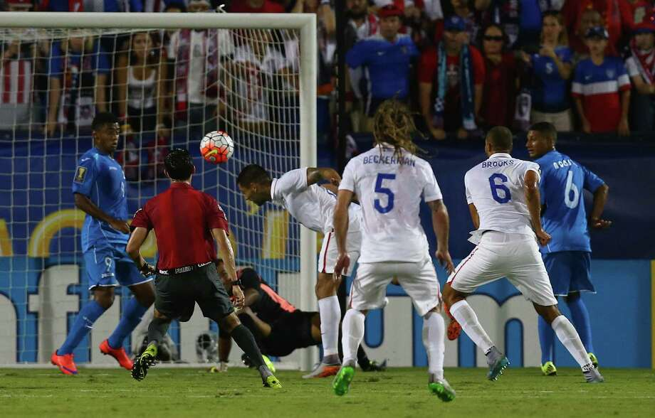 FRISCO, TX - JULY 07:  Clint Dempsey #8 of USA scores against Honduras during the 2015 CONCACAF Gold Cup Group A match between USA and Honduras at Toyota Stadium on July 7, 2015 in Frisco, Texas.  (Photo by Tom Pennington/Getty Images) ORG XMIT: 551746663 Photo: Tom Pennington / 2015 Getty Images