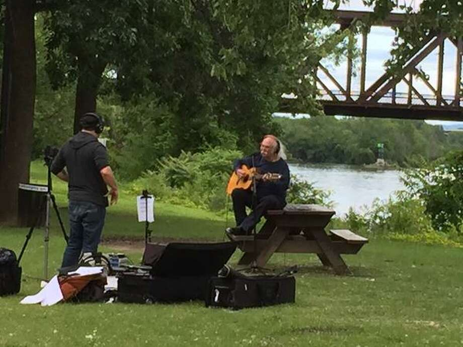 David Crosby recorded his portion of a multi-artist tribute to the Grateful Dead at the Corning Preserve last week. (Courtesy / Colin J. Donnaruma)