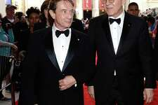 Martin Short (L) and honoree Steve Martin walk the red carpet at the 43rd AFI Life Achievement Award Gala honoring Martin at Dolby Theatre on June 4, 2015 in Hollywood.