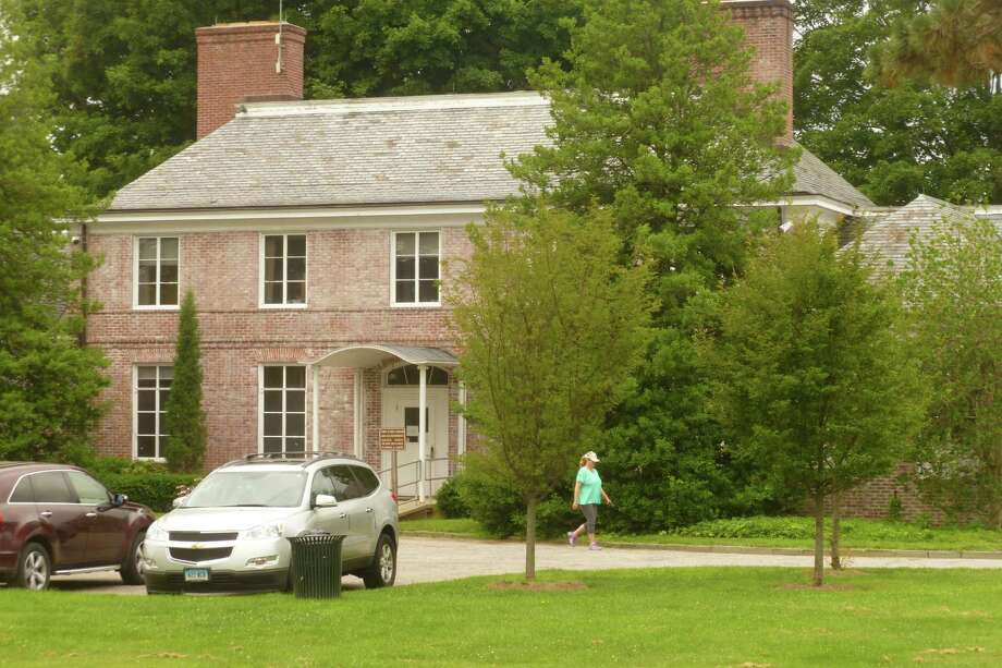 Irwin Park at 848 Weed St. was cited in a study of town cellular service as a piece of town-owned property where antennas or other equipment could boost spotty service. Photo: Martin Cassidy / Contributed Photo / New Canaan News